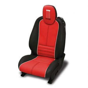 Graphite-dark-wrap-Red-center-Pearl-wings-piping-Black-all-stitch.-Foose-logo-included-on-headrest